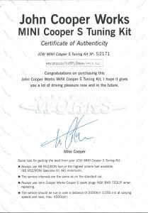 JCW-Certificate