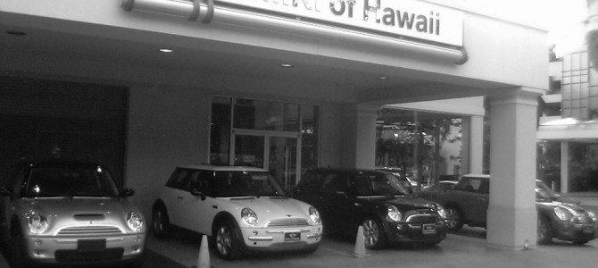 Hawaii MINI Club と MINI of Hawaii に行ってみた