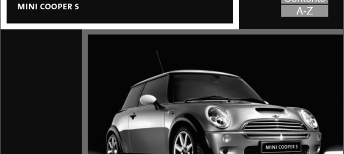 MINI Cooper S オーナーズマニュアル